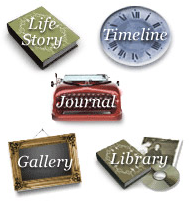 Memorial website tribute features - Many options such as Thoughts, Stories and Gallery