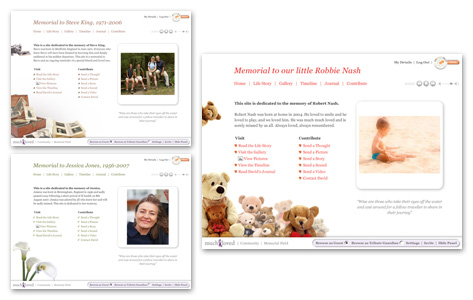 Website memorial benefits slideshow